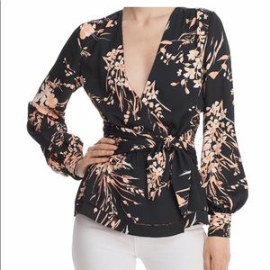 NWT Joie Arin floral wrap top